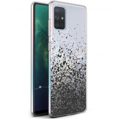 iMoshion Coque Design Samsung Galaxy A71 - Eclaboussures - Noir