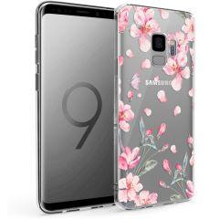 iMoshion Coque Design Samsung Galaxy S9 - Fleur - Rose