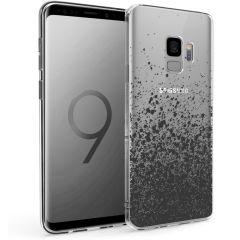 iMoshion Coque Design Samsung Galaxy S9 - Eclaboussures - Noir
