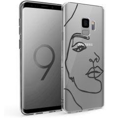 iMoshion Coque Design Samsung Galaxy S9 - Visage abstrait - Noir