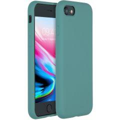 Accezz Coque Liquid Silicone iPhone SE (2020) / 8 / 7 - Vert foncé