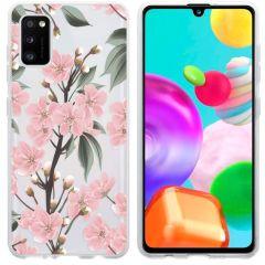 iMoshion Coque Design Samsung Galaxy A41 - Fleur - Rose / Vert