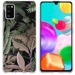 iMoshion Coque Design Samsung Galaxy A41 - Jungle - Vert / Rose