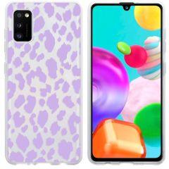 iMoshion Coque Design Samsung Galaxy A41 - Léopard - Violet
