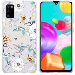 iMoshion Coque Design Samsung Galaxy A41 - Fleur - Blanc
