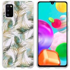 iMoshion Coque Design Samsung Galaxy A41 - Paon - Vert / Dorée