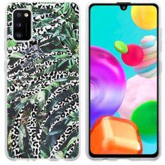 iMoshion Coque Design Galaxy A41 - Jungle - Blanc / Noir / Vert