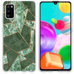 iMoshion Coque Design Galaxy A41 - Cuive graphique - Vert / Dorée