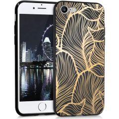 iMoshion Coque Design iPhone SE (2020) / 8 / 7 - Feuilles - Dorée