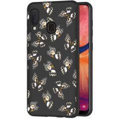 iMoshion Coque Design Samsung Galaxy A20e - Papillon - Noir / Blanc