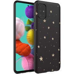 iMoshion Coque Design Samsung Galaxy A51 - Etoiles - Noir / Dorée
