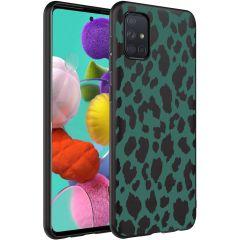 iMoshion Coque Design Samsung Galaxy A71 - Léopard - Vert / Noir