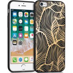 iMoshion Coque Design iPhone 6 / 6s - Feuilles - Dorée / Noir