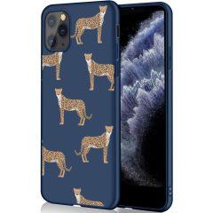 iMoshion Coque Design iPhone 11 Pro - Léopard - Bleu