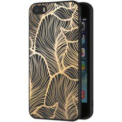 iMoshion Coque Design iPhone 5 / 5s / SE - Feuilles - Dorée / Noir