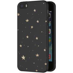 iMoshion Coque Design iPhone 5 / 5s / SE - Etoiles - Noir / Dorée