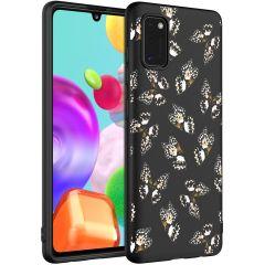 iMoshion Coque Design Samsung Galaxy A41 - Papillon - Noir / Blanc