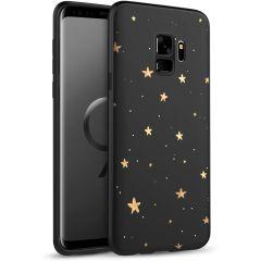 iMoshion Coque Design Samsung Galaxy S9 - Etoiles - Noir / Dorée