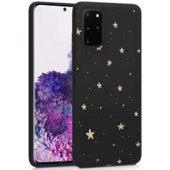 iMoshion Coque Design Galaxy S20 Plus - Etoiles - Noir / Dorée