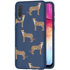 iMoshion Coque Design Samsung Galaxy A50 / A30s - Léopard - Bleu