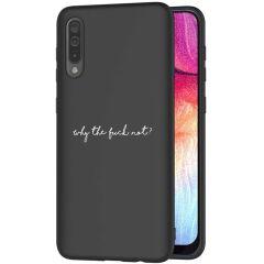 iMoshion Coque Design Galaxy A50 / A30s - Why The Fuck Not - Noir