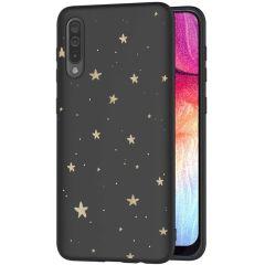 iMoshion Coque Design Galaxy A50 / A30s - Etoiles - Noir / Dorée