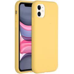Accezz Coque Liquid Silicone iPhone 11 - Jaune