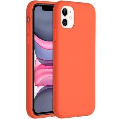 Accezz Coque Liquid Silicone iPhone 11 - Nectarine