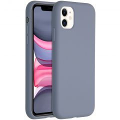Accezz Coque Liquid Silicone iPhone 11 - Lavender Gray