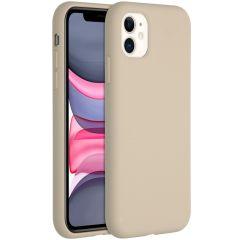 Accezz Coque Liquid Silicone iPhone 11 - Stone