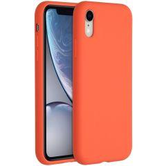 Accezz Coque Liquid Silicone iPhone Xr - Nectarine