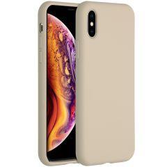 Accezz Coque Liquid Silicone iPhone Xs / X - Stone