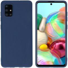 iMoshion Coque Color Samsung Galaxy A71 - Bleu foncé