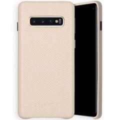 Selencia Coque Gaia Serpent Samsung Galaxy S10 - Blanc