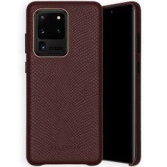 Selencia Coque Gaia Serpent Samsung Galaxy S20 Ultra - Rouge