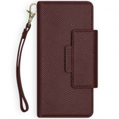 Selencia Etui portefeuille serpent amovible 2-en-1 iPhone Xr - Rouge