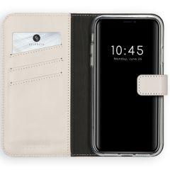 Selencia Étui de téléphone en cuir véritable iPhone 11 - Gris clair