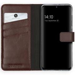 Selencia Étui de téléphone en cuir véritable Samsung Galaxy A41