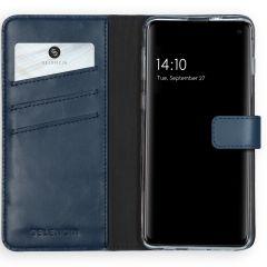 Selencia Étui de téléphone en cuir véritable Samsung Galaxy S10