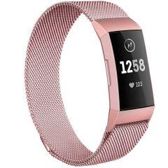 iMoshion Milanais Watch bracelet Fitbit Charge 3 / 4 - Rose