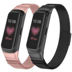 iMoshion Multipack bracelet Milanais Samsung Galaxy Fit - Noir / Rose