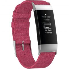 iMoshion Bracelet en nylon Fitbit Charge 3 / 4 - Rose