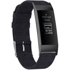 iMoshion Bracelet en nylon Fitbit Charge 3 / 4 - Noir