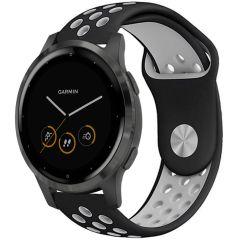 iMoshion Bracelet silicone sport Garmin Vivoactive 4L - Noir / Gris