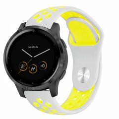 iMoshion Bracelet silicone sport Garmin Vivoactive 4L -Argent / Jaune