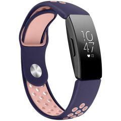 iMoshion Bracelet silicone sport Fitbit Inspire - Bleu / Rose