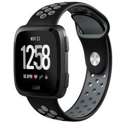 iMoshion Bracelet silicone sport Fitbit Versa 2 / Lite - Noir / Gris