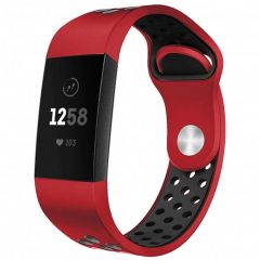 iMoshion Bracelet silicone sport Fitbit Charge 3 / 4 - Rouge