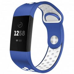 iMoshion Bracelet silicone sport Fitbit Charge 3 / 4 - Bleu
