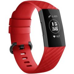 iMoshion Bracelet silicone Fitbit Charge 3 / 4 - Rouge